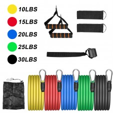 Himaly Exercise Resistance Bands Set Strength Training Fitness Tubes Tension Bands with Handles, Door Anchor, Ankle Straps, Carry Bag, Workout Guides and Band Guard Equipment for Men and Women